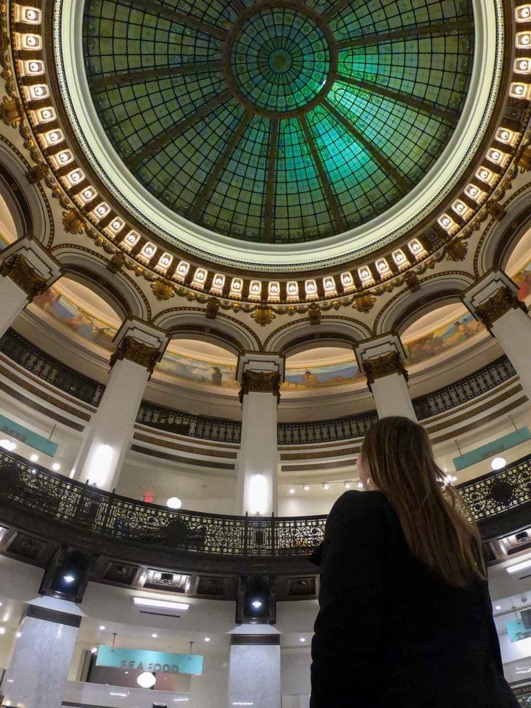 Glass dome at Cleveland Heinen's
