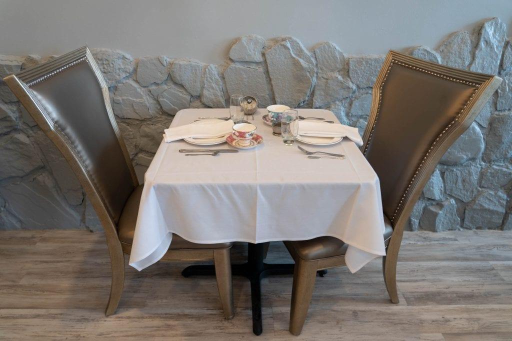 Macaron Tea Room table