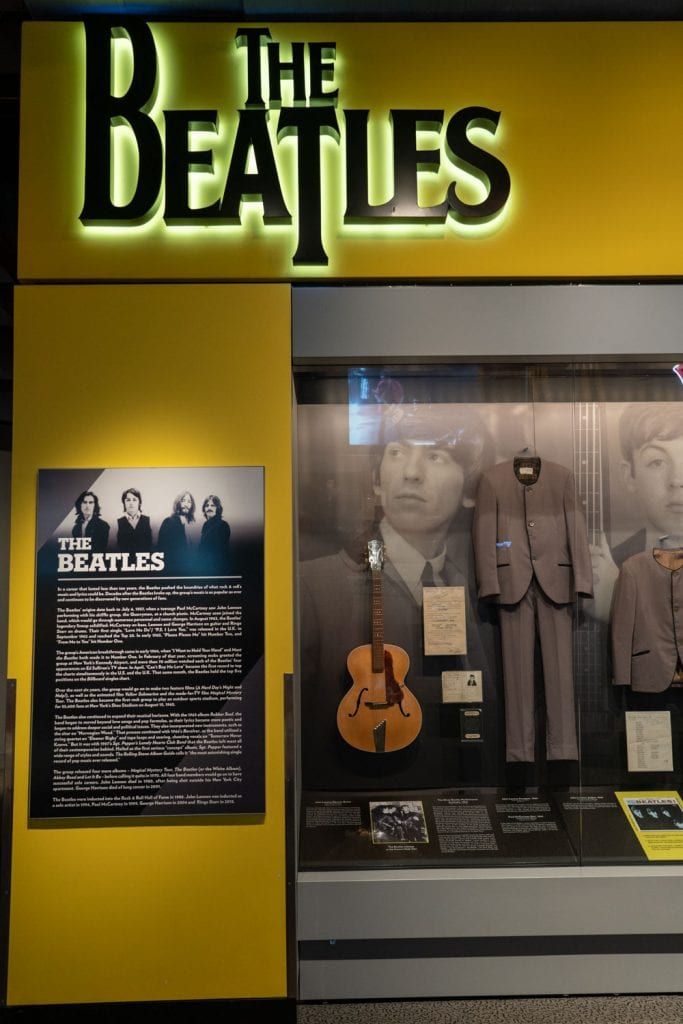 Rock and Roll Hall of Fame exhibit Beatles