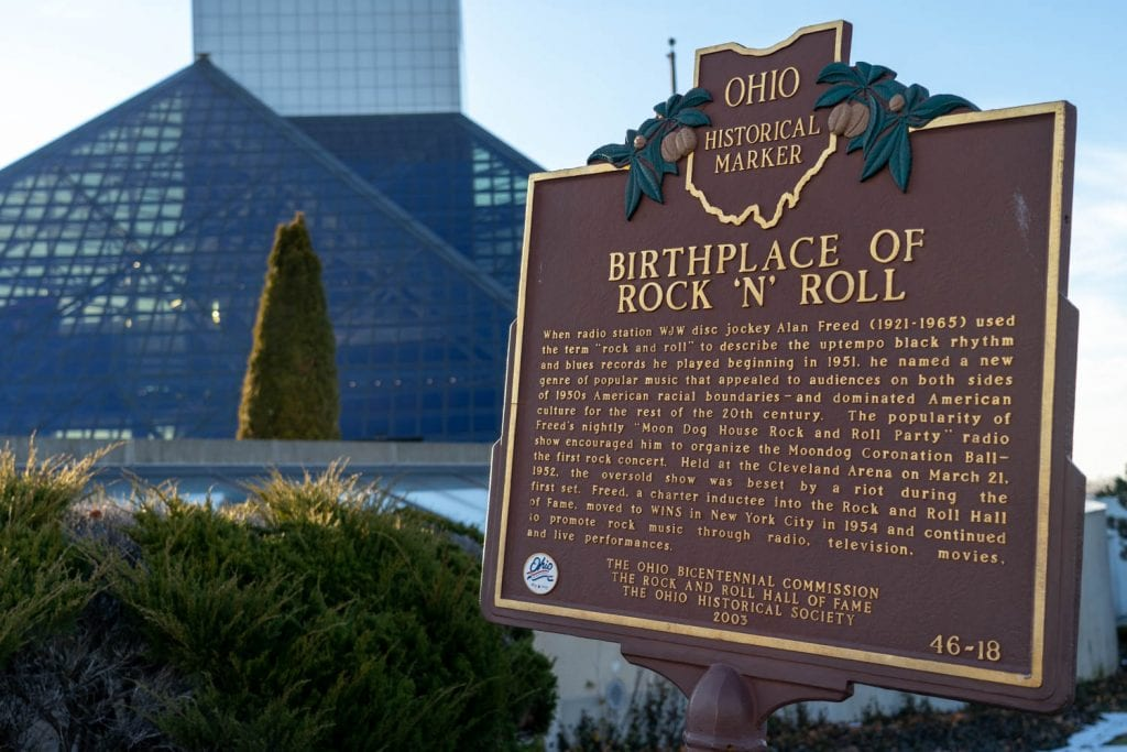 Rock and Roll Hall of Fame historical marker