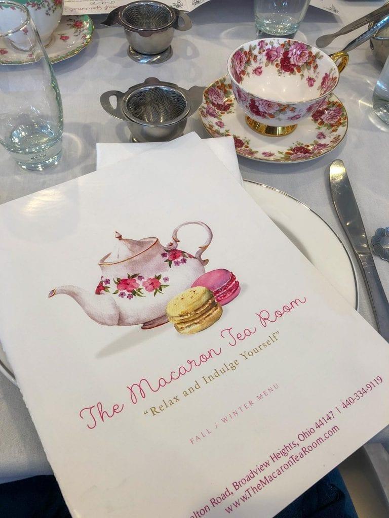 Macaron Tea Room menu
