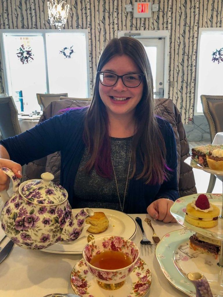Amanda at the Macaron Tea Room