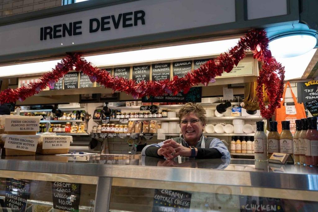 Irene Dever at West Side Market