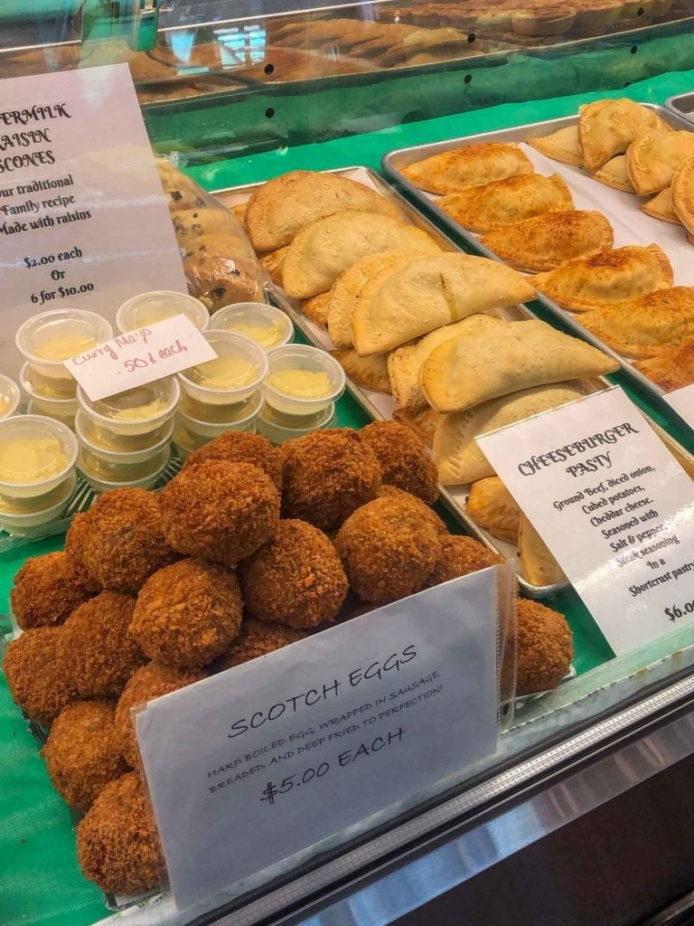Scotch eggs at West Side Market