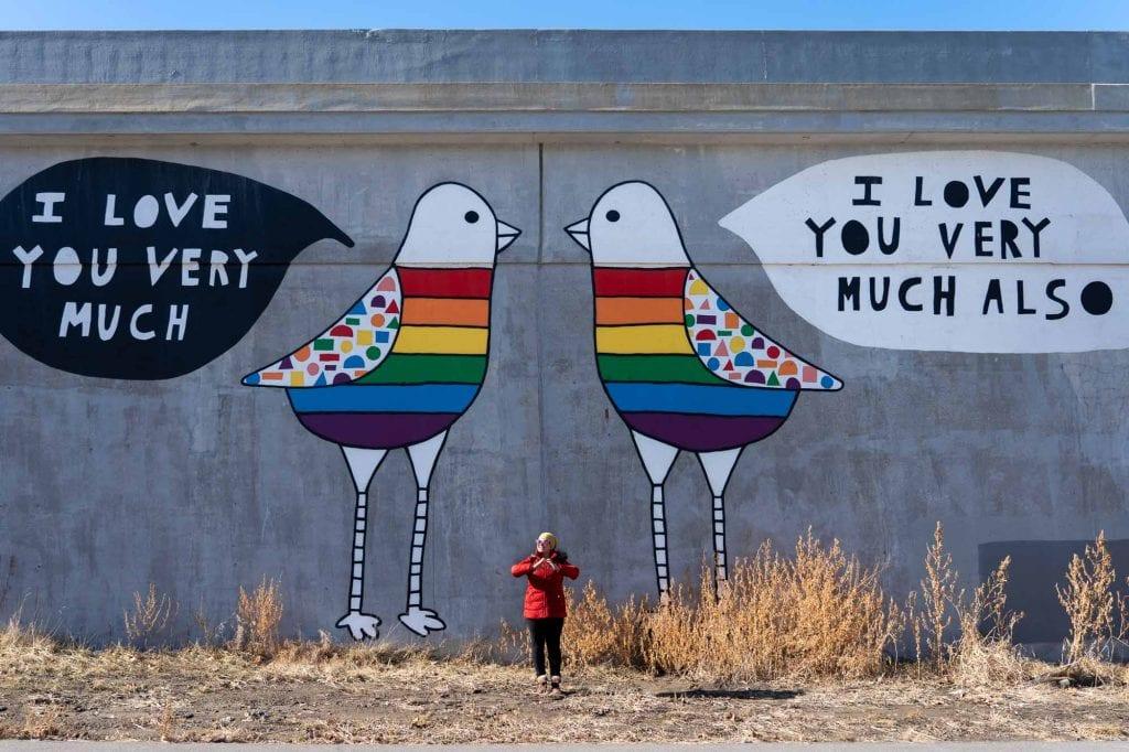 Love Doves mural in Cleveland