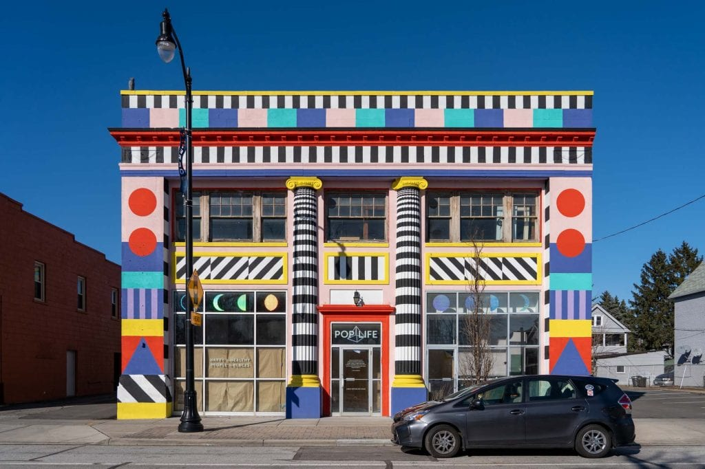 Poplife building in Waterloo Arts District