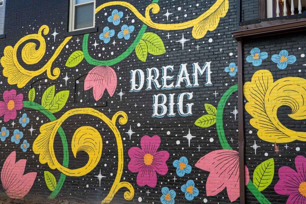 Dream Big mural in Gordon Square