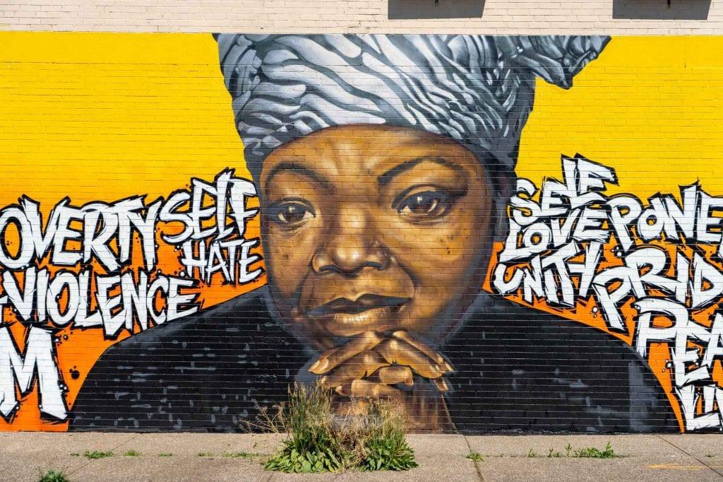 Maya Angelou mural