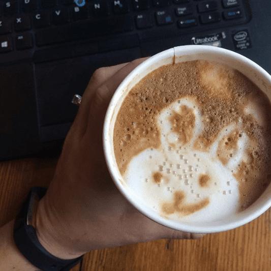 Bunny latte art at Civilization