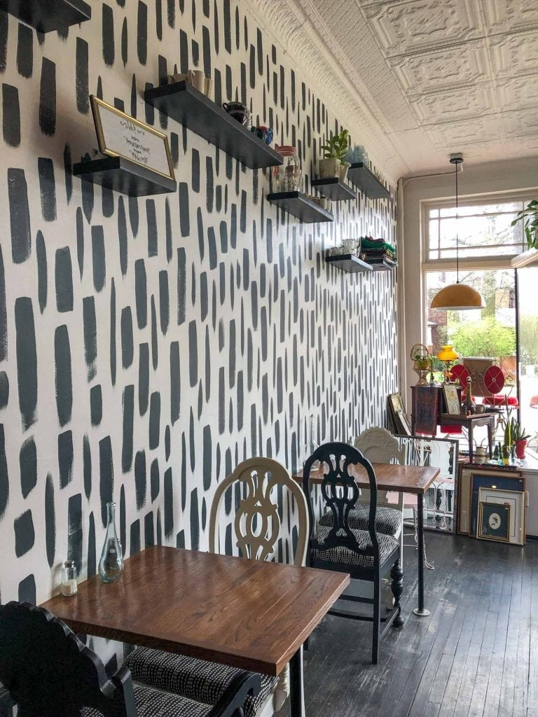 Inside Brewella's Coffee, Crepes & Collectibles