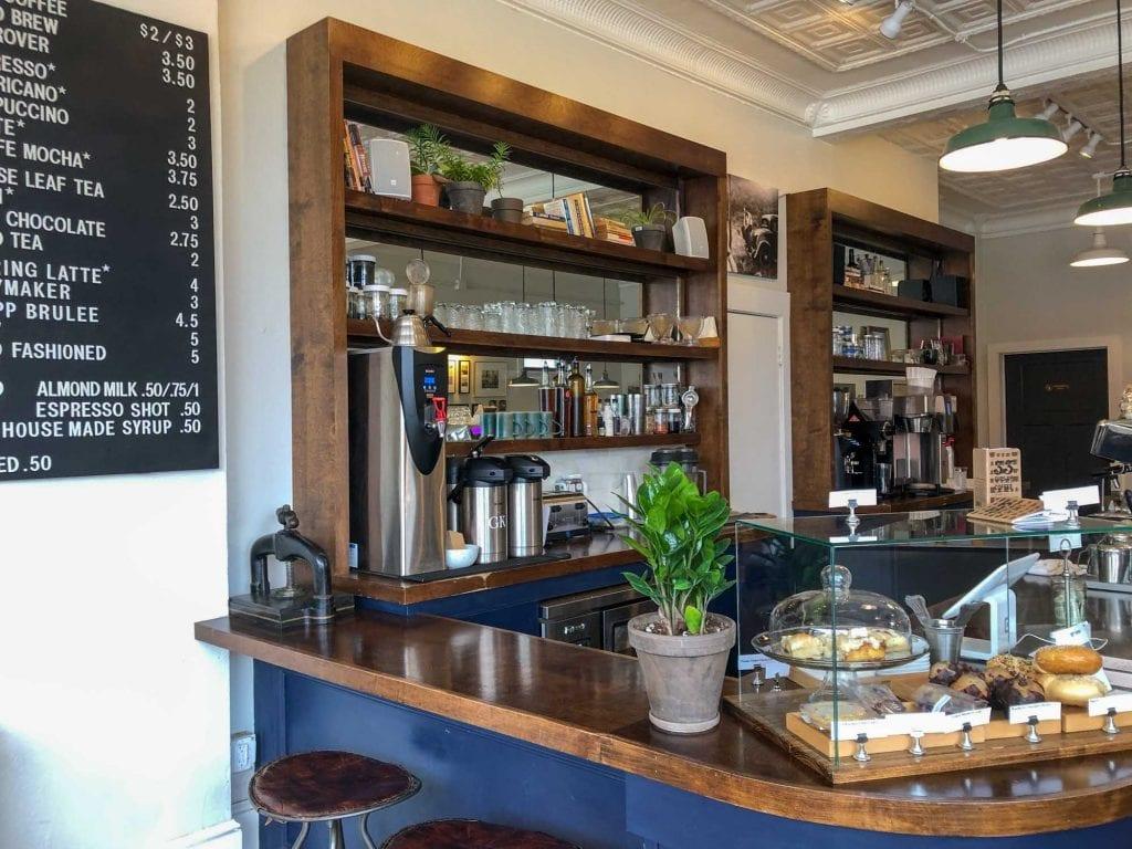 Inside Goodkind Coffee in Lakewood
