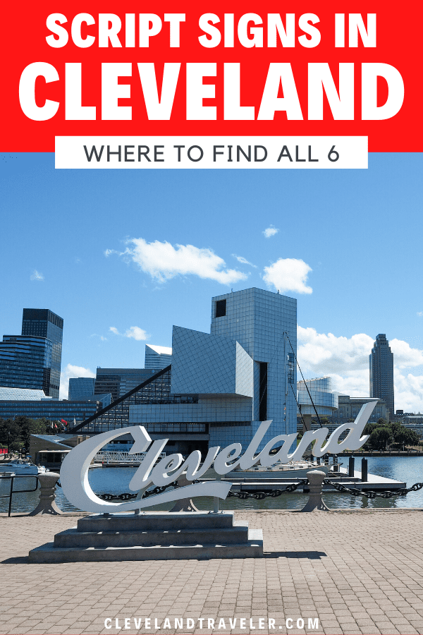 Where to find the Cleveland script signs