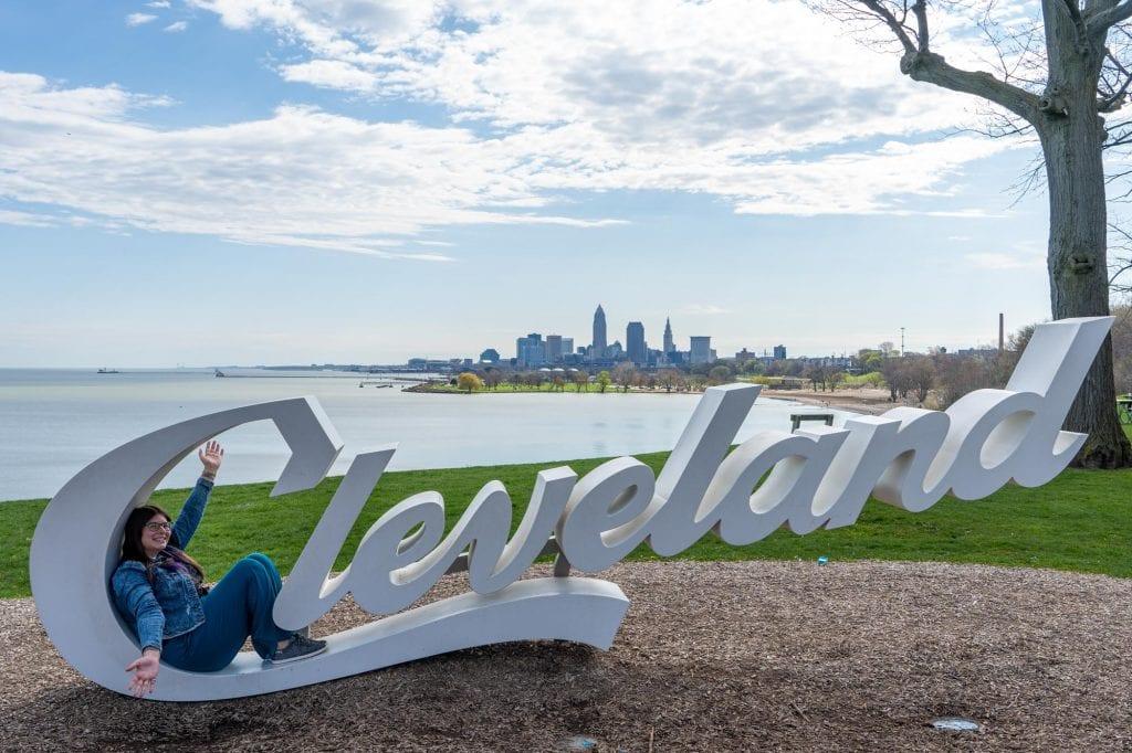 Edgewater Park Cleveland script sign