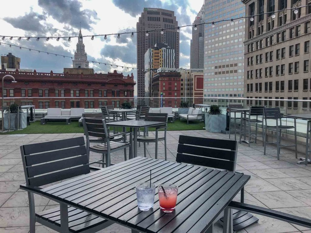 Azure Rooftop Lounge in Cleveland
