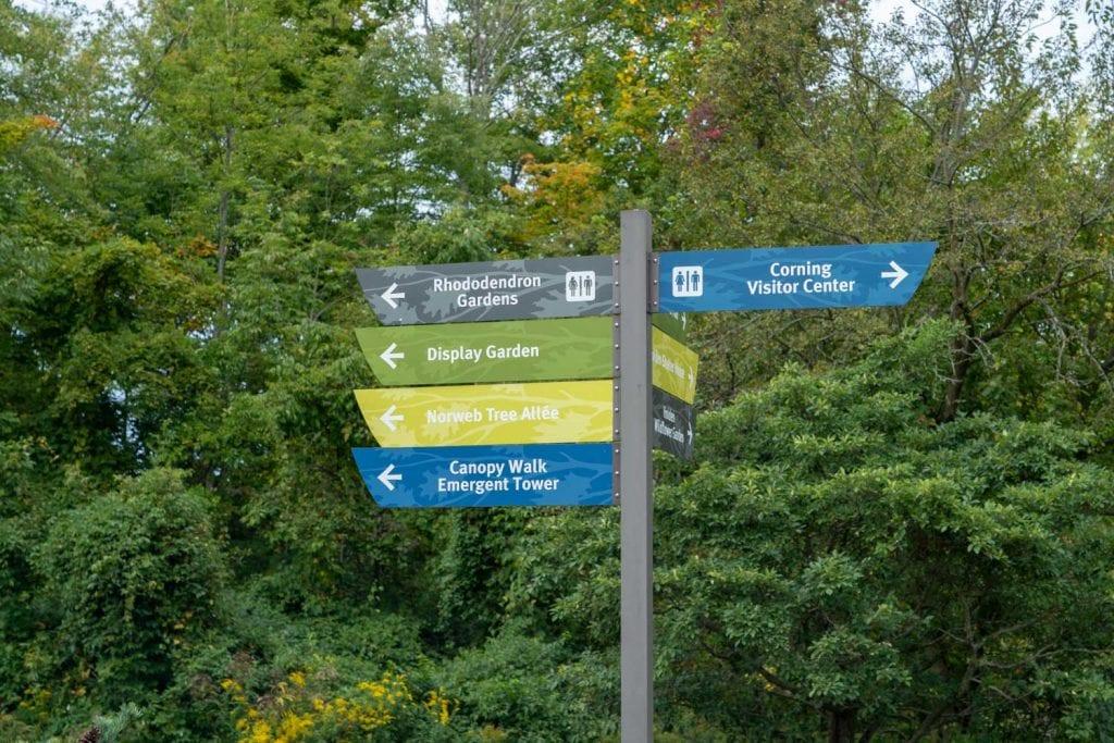 Signage at Holden Arboretum
