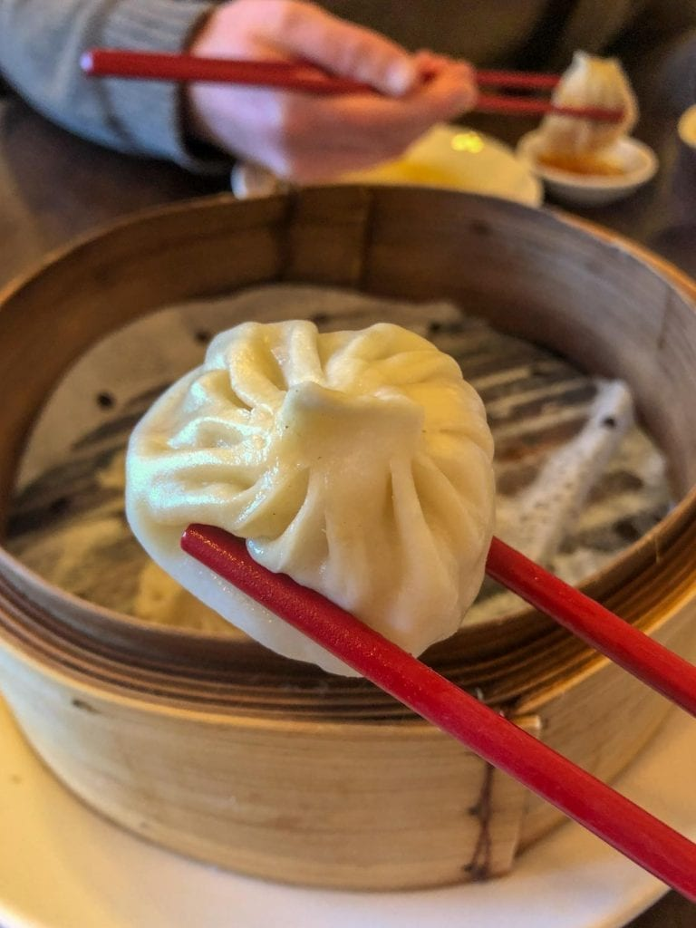 Soup dumplings at LJ Shanghai