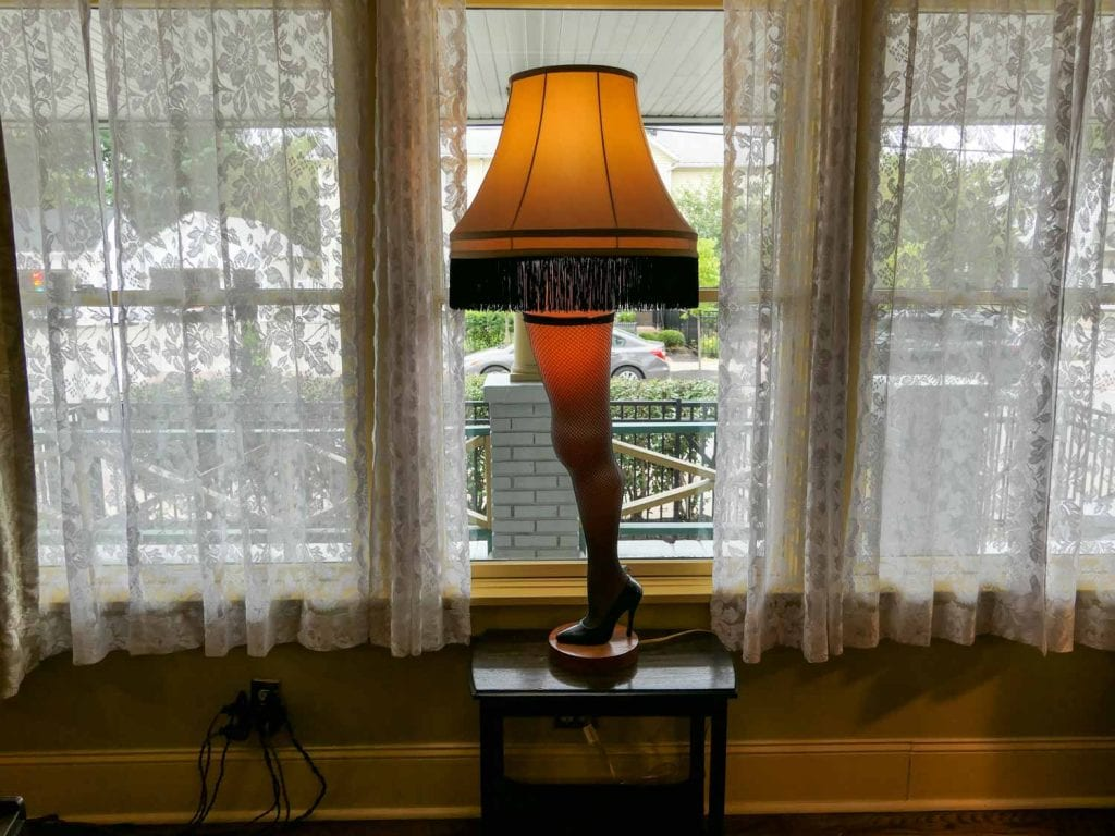 Leg lamp at the A Christmas Story House in Cleveland