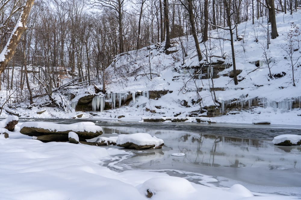 Bedford Reservation in Winter