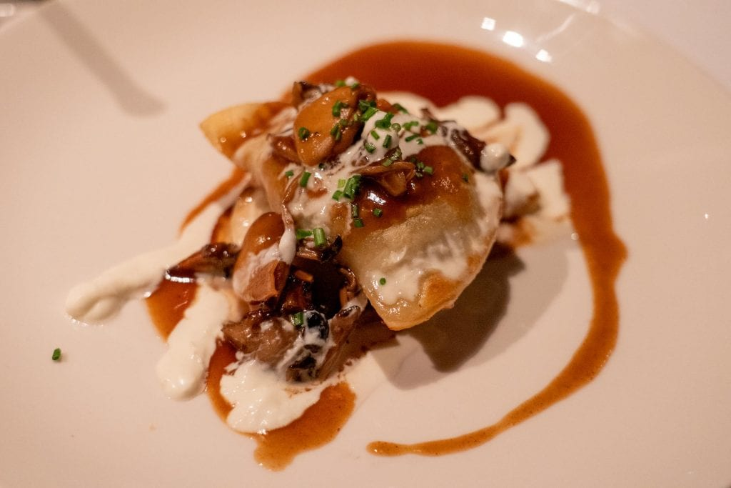 Beef cheek pierogi at Lola