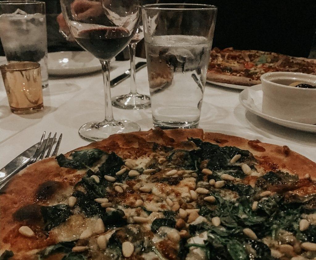 Pizza and wine at Humble Wine Bar