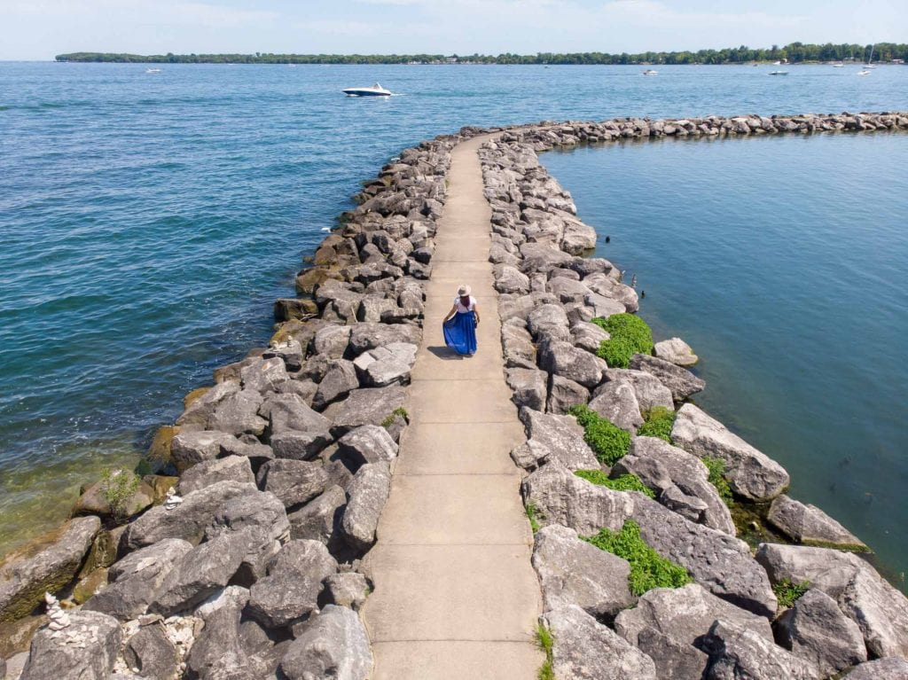 Kelleys Island fishing pier