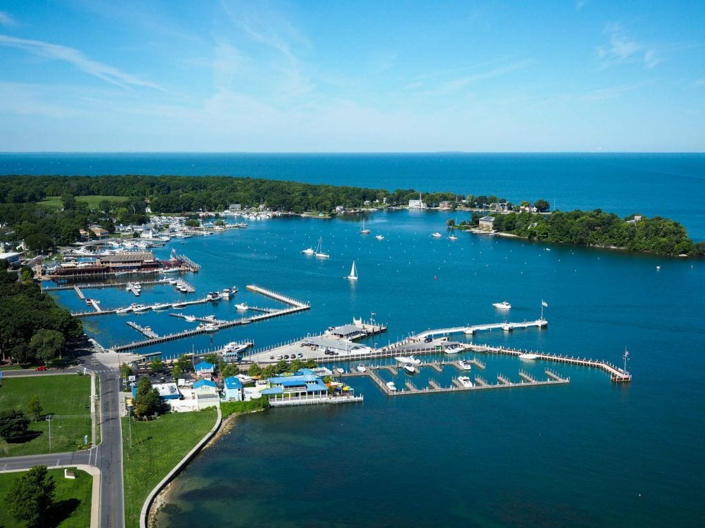 Put-in-Bay from above