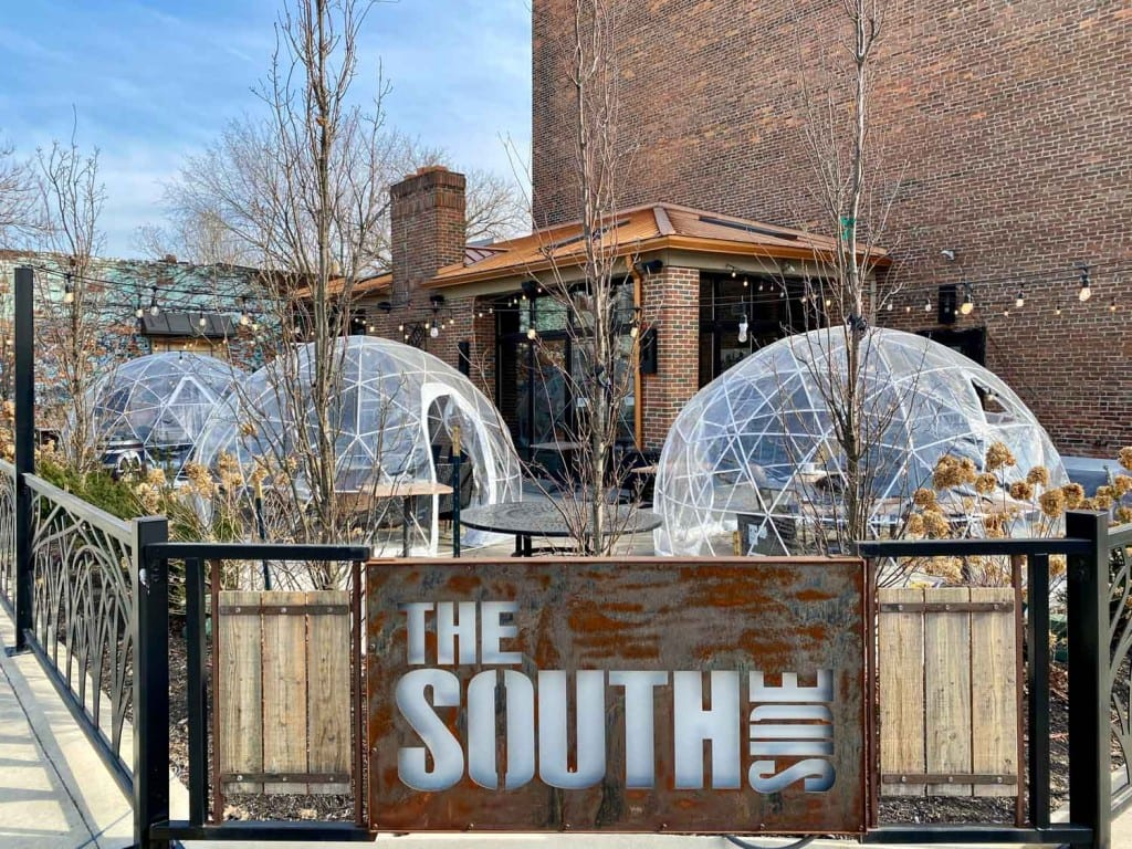 Southside igloos in winter