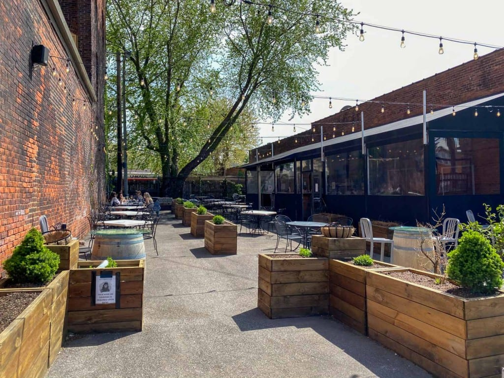 Astoria Market and Cafe patio