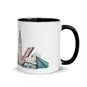 Cleveland skyline multi-color mug (no text)