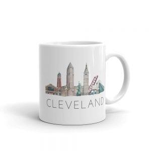 Cleveland skyline mug double-sided