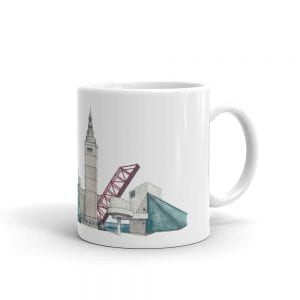 Cleveland skyline white mug (no text)
