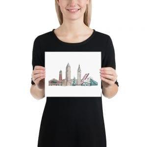 Cleveland skyline poster (no text)