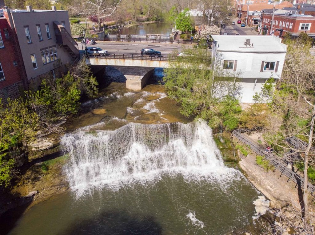 Chagrin Falls from above