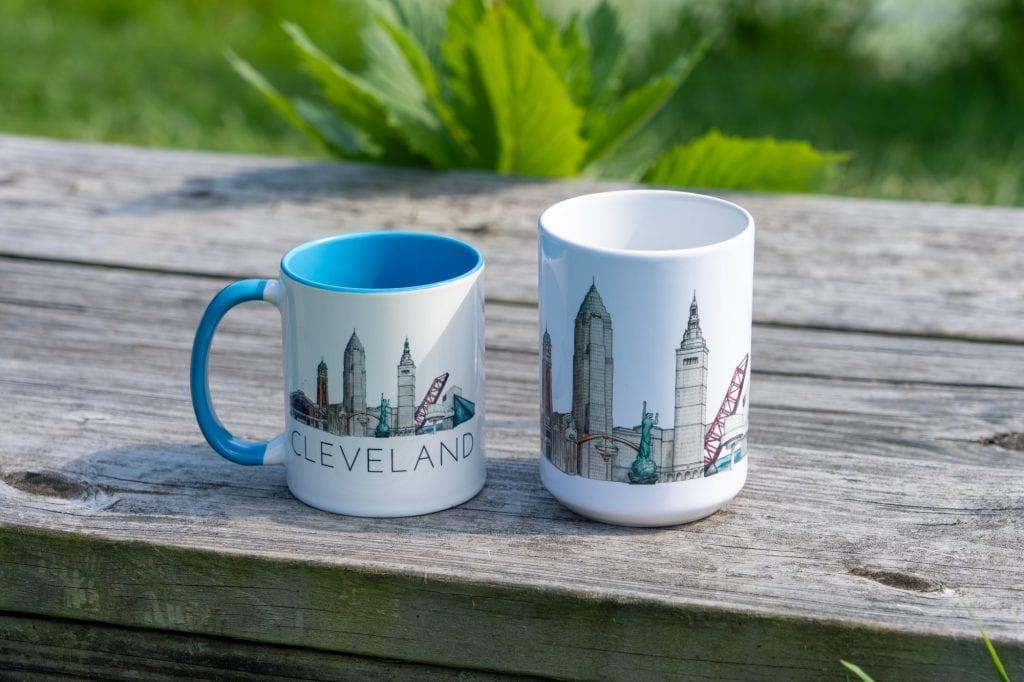 Cleveland skyline mugs