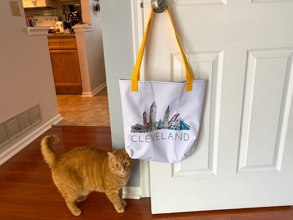 Cleveland tote bag and Weasley