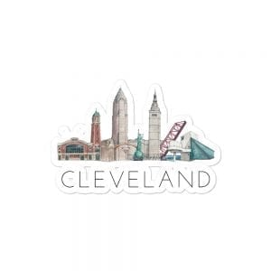 Cleveland skyline sticker