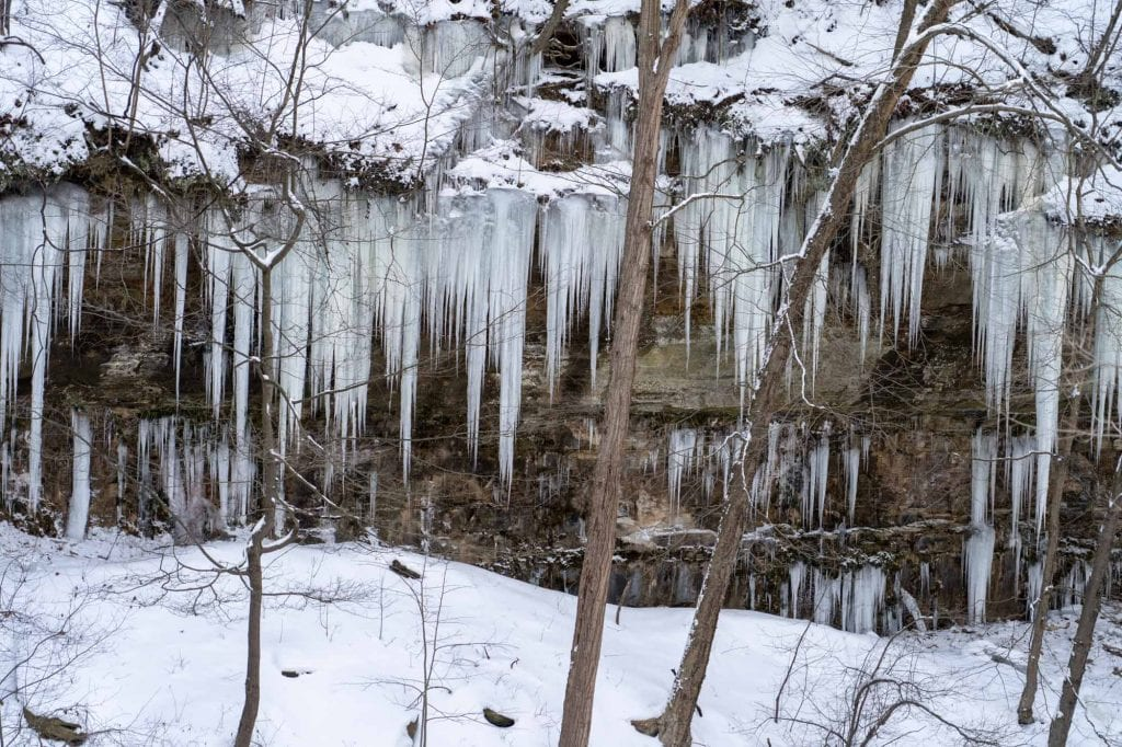 Icicles in Bedford Reservation
