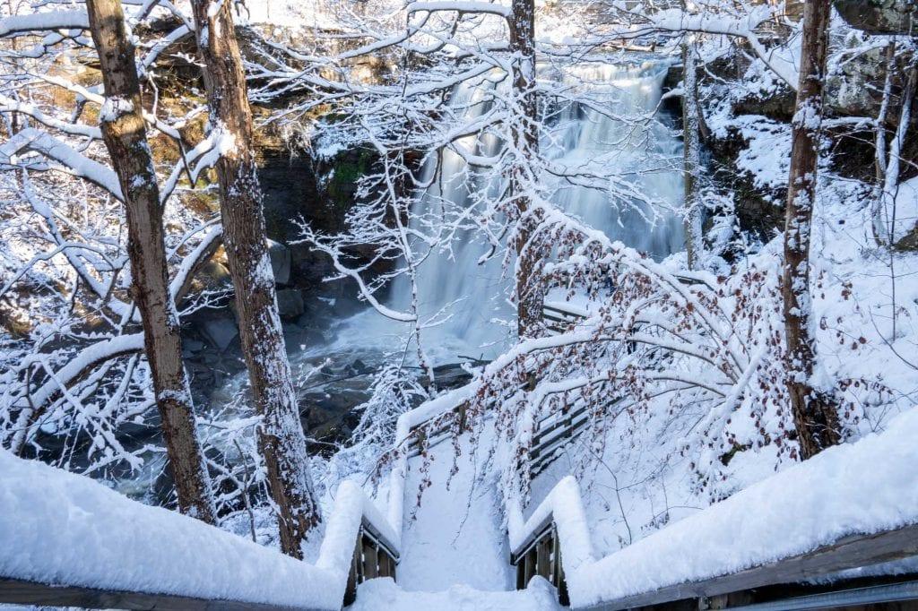 Brandywine Falls in the winter