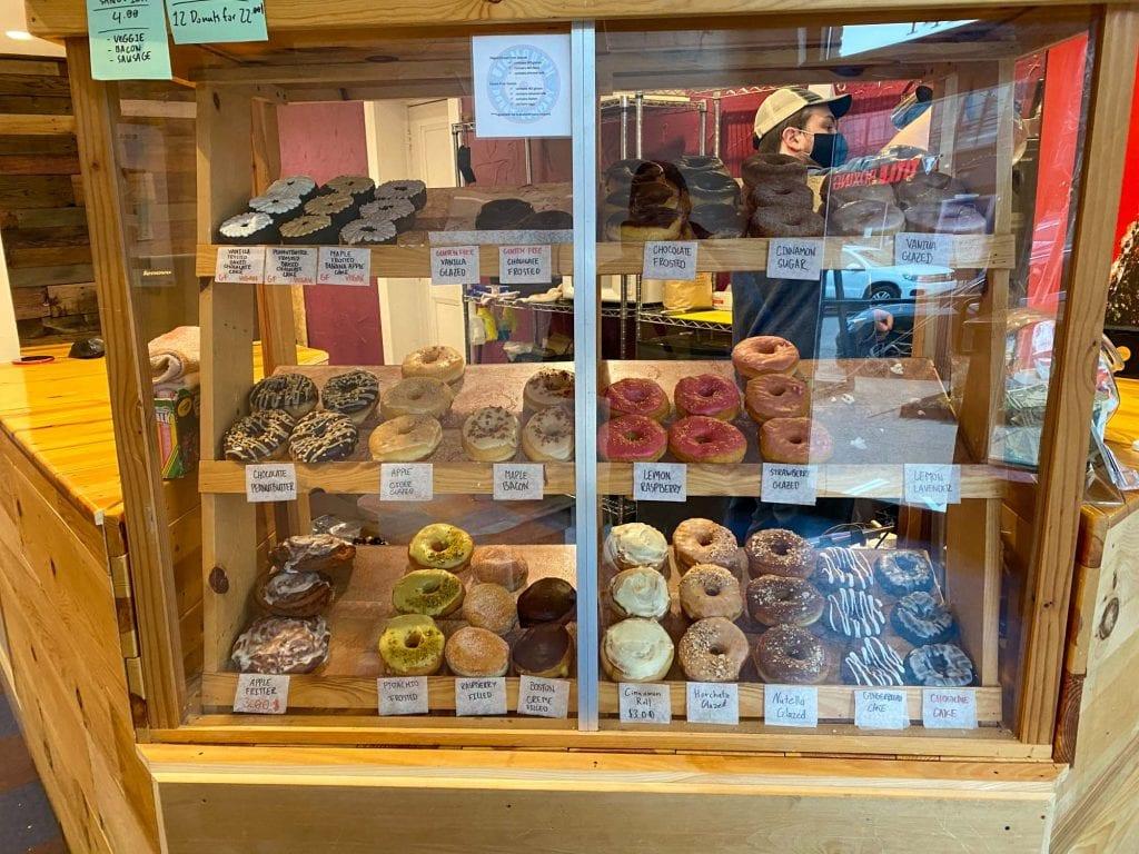 Bigmouth Donuts donut case.