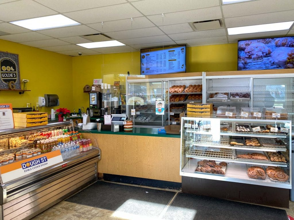 Goldie's Donuts display case