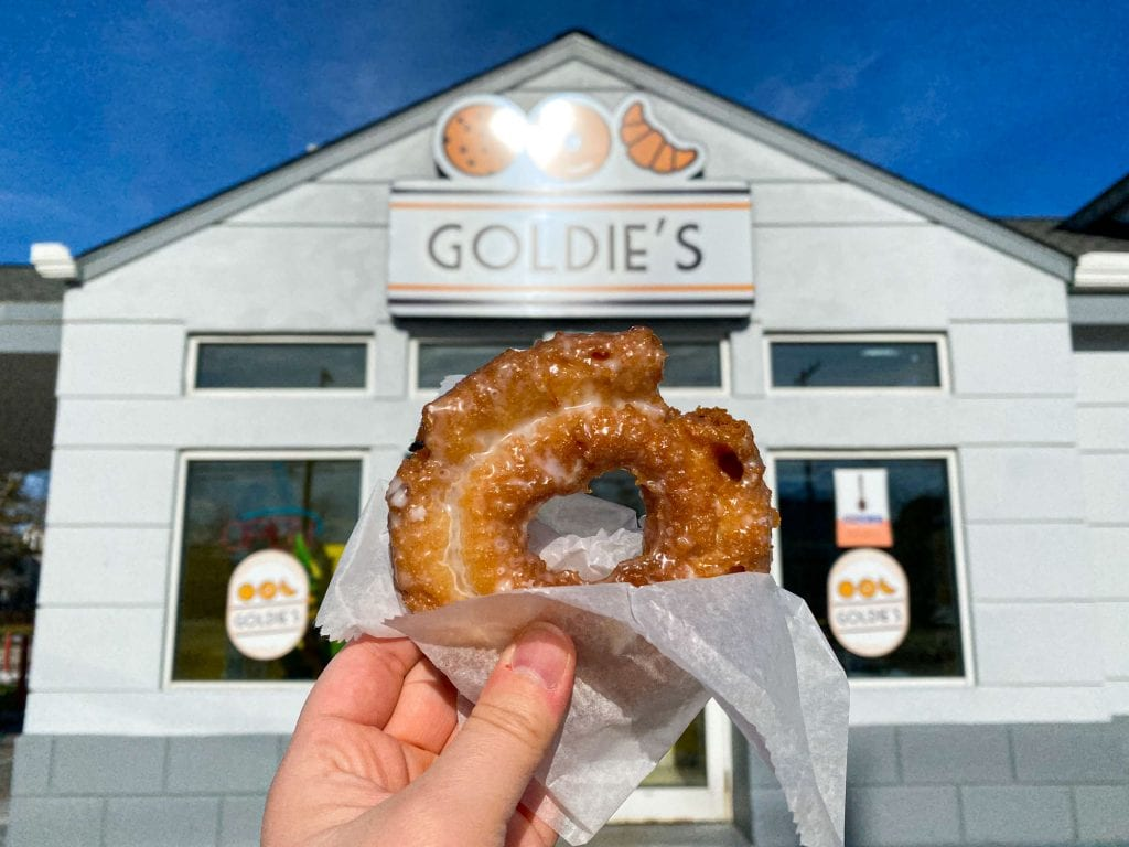 Sour cream donut from Goldie's