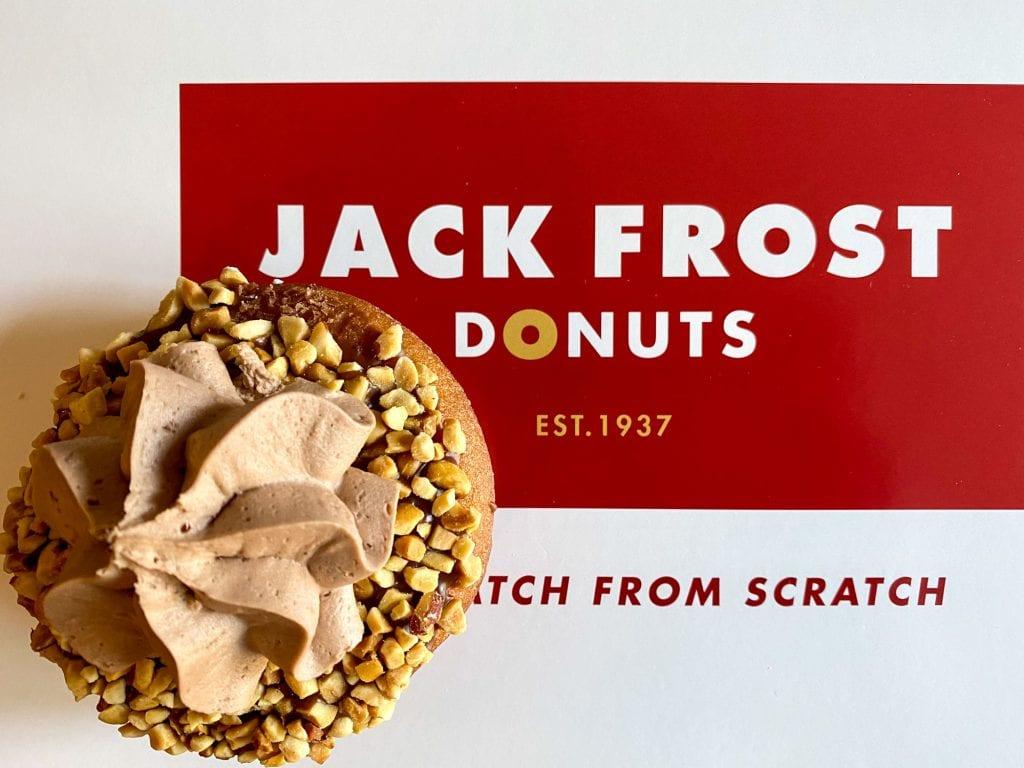 Donut on a Jack Frost box
