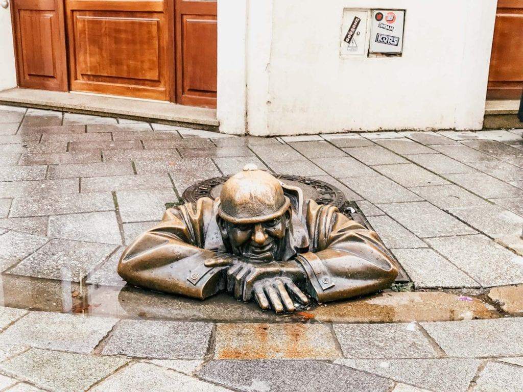 Man at Work Statue Bratislava