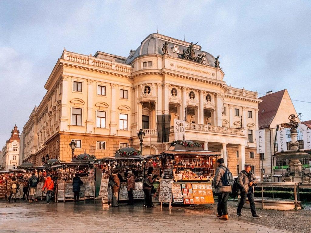 Old Town Bratislava Hviezdoslav Square