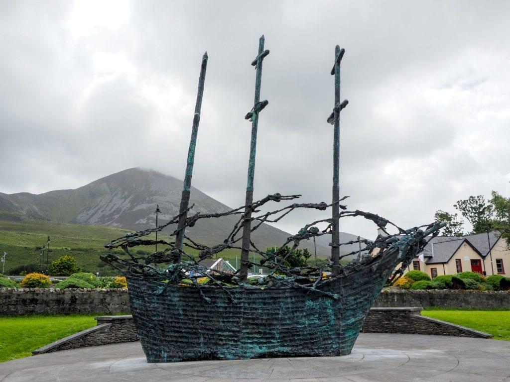 Ireland famine memorial in County Mayo