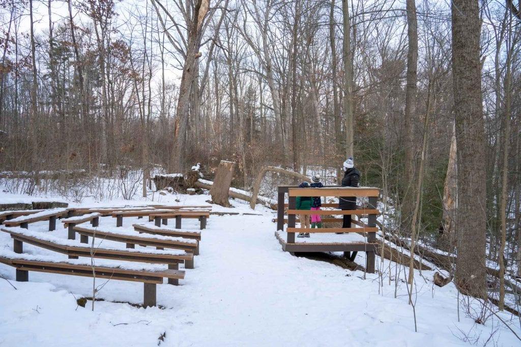 Brecksville Nature Center in winter