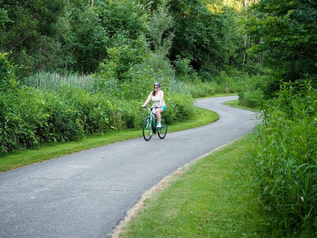 Amanda riding a bike in Twinsburg