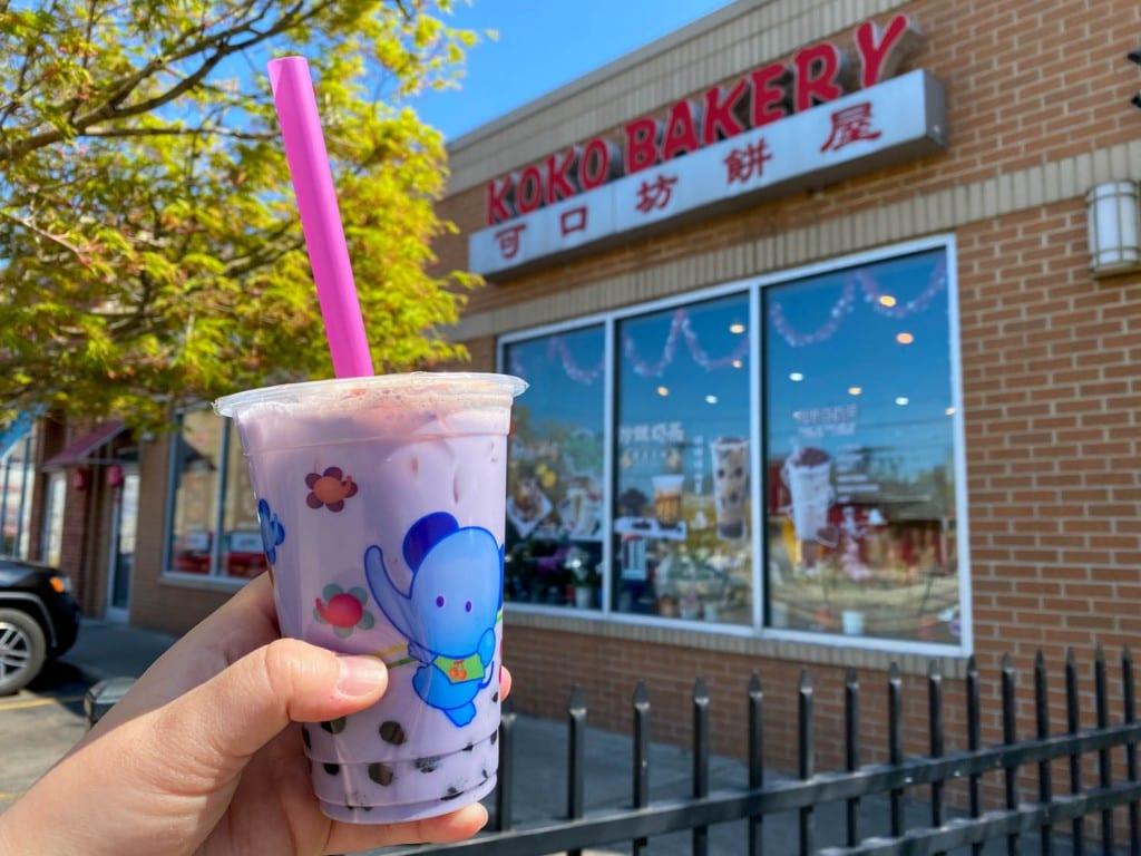 Koko Bakery taro bubble tea