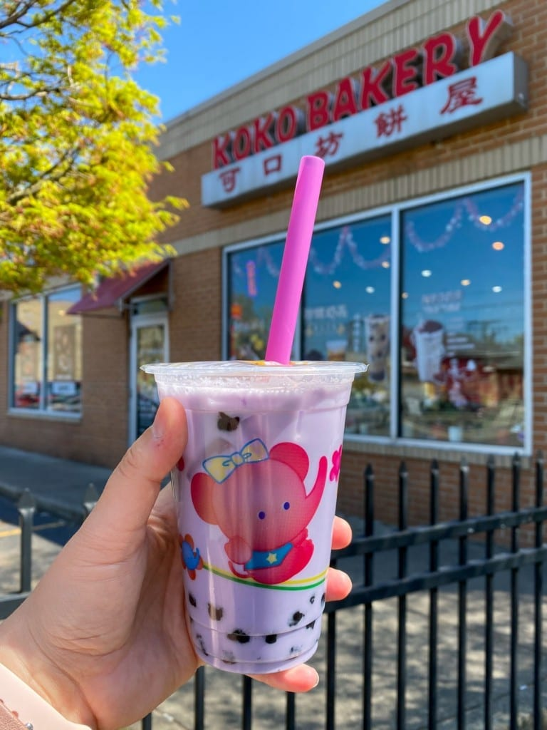 Koko Bakery taro bubble tea