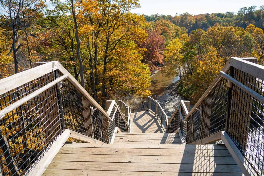 Fort Hill Stairs at Rocky River Reservation